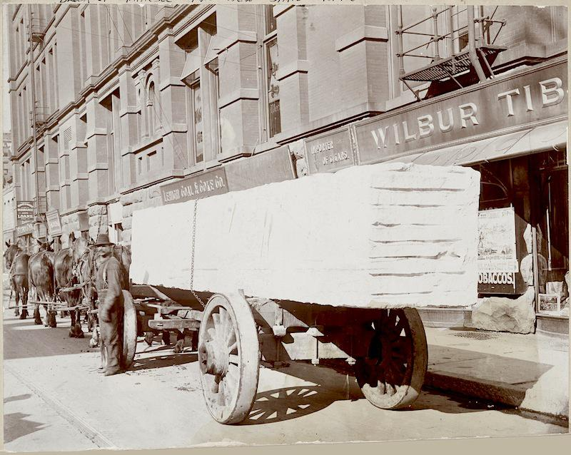 Teamster Hauling a Block of Marble for the new State Capitol