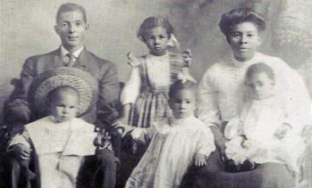 Casiville Bullard and Family, ca 1908